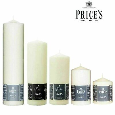£8.49 • Buy Price's Church Altar Pillar Long Burn Time Candles Large Round Ivory Home Decor