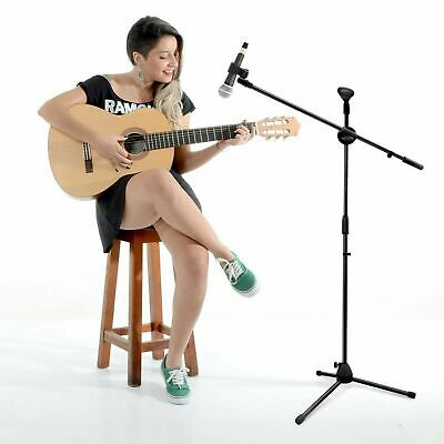 Adjustable Professional Microphone Stand Boom Arm Holder With 2 Free Clip Tripod • 11.99£