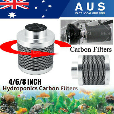 AU69.99 • Buy 4  6  8  Inch Carbon Filter Odor Control For Fan Grow Tent Hydroponics Environme