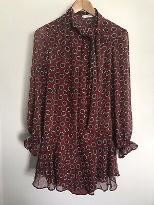 AU35 • Buy MANGO Suit Burgundy Dress MNG Size S AS NEW