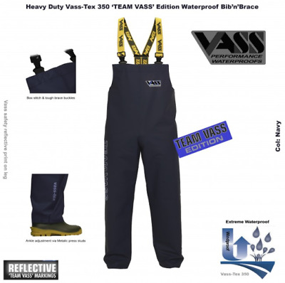 Vass-Tex 350 Team Vass Heavy Duty Bib & Brace Navy • 48.96£