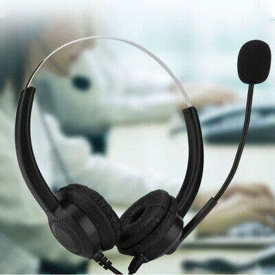 USB Headphones With Microphone Headset For Skype PC Laptop Computer Call Center • 7.49£