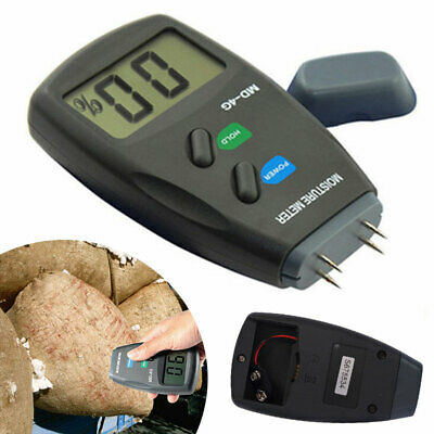 4-Pin Digital Moisture Meter Damp Detector Timber Wood Tester Plaster Sensor New • 11.02£