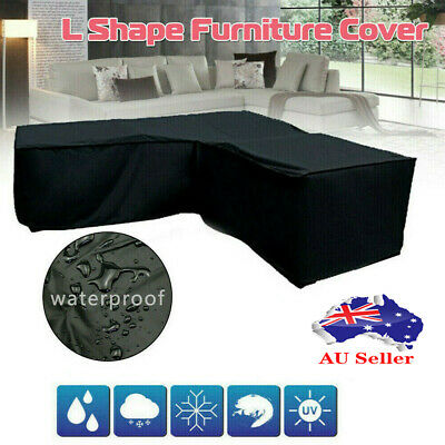 AU45.88 • Buy Waterproof Furniture Cover Garden Rattan Corner Outdoor Sofa Protector L Shape