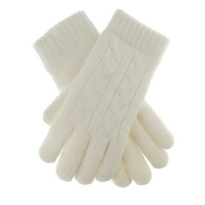 £16 • Buy Dents Winter White Cable Knit Ladies Gloves Fleece Lined