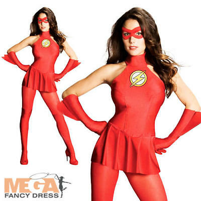 £35.99 • Buy Sexy Flash Ladies Superhero Fancy Dress Womens Adults Party Costume Outfit