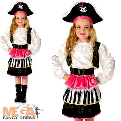Pirate Sweetie Girls Fancy Dress Buccaneer World Book Day Childrens Kids Costume • 9.49£