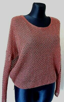 DESIGNED TI MO MOHAIR LIGH Soft Jumper CABLE KNIT Sweater SIZE M UK 12  • 17.99£