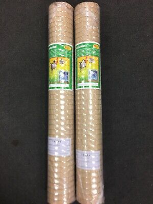 Chicken Wire Welded Mesh Aviary Fence Squere Rabbit Garden 1m X 15m 2 Rolls • 35£