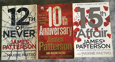 AU27.95 • Buy James Patterson - Lot Of 3 Women's Murder Club Books - 10,12,15