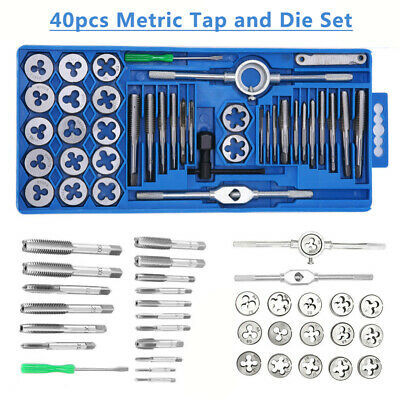 AU24.99 • Buy 40Pcs Heavy Duty Metric Tap And Die Set Carbon Steel Screw Threading Hand Tools