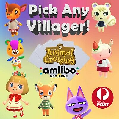 AU3.39 • Buy IN STOCK (QLD): Animal Crossing New Horizons Amiibo Cards NFC (Free Postage)