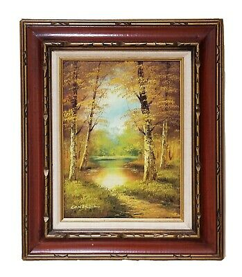 $ CDN332.63 • Buy Original Signed Oil On Canvas Panting By CANTRELL - Landscape Art In 24×20 Frame