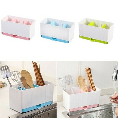 AU13.41 • Buy Kitchen Racks Organizer Caddy Sink Utensils Soap Dispenser Holders Drainer