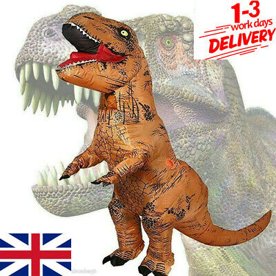 Inflatable Dinosaur Costume Halloween T-Rex Fancy Dress For Kids Adults Cosplay • 31.99£