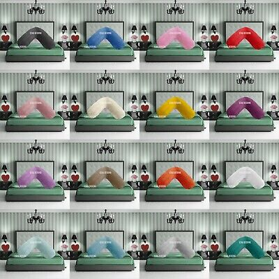 £9.49 • Buy Teddy Bear Fleece V Shaped Pillow Warm Soft Neck Support Cosy Cushion Case Only