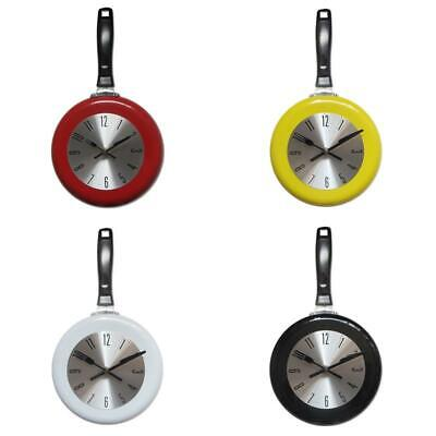 Wall Clock Metal Frying Pan Design 8 Inch Clocks Kitchen Decoration Art Watch • 17.29£