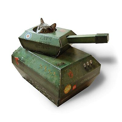 Suck UK Cat Play House | Novelty Cardboard Tank | Toy & Accessories M  • 19.75£