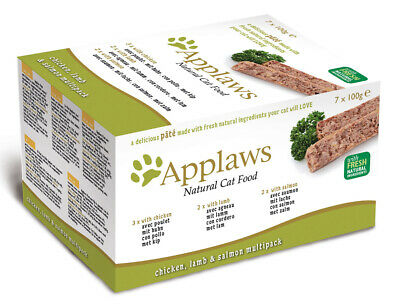 Applaws Chicken, Lamb & Salmon Cat Pate Mixed Multipack - 7 X 100g • 7.04£
