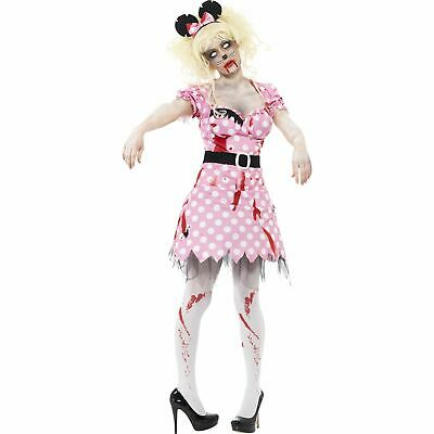 £13.99 • Buy Zombie Rodent Minnie Mouse Halloween Womens Ladies Fancy Dress Costume