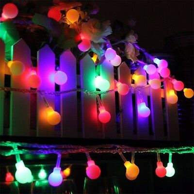 High Quality Globe Berry Ball LED Fairy Lights Plug-In Bulb String Party Lamps • 10.85£