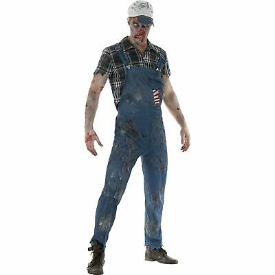 Zombie Hillbilly Dungarees Halloween Horror Adults Mens Fancy Dress Costume • 31.09£