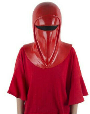 Emperor's Royal Guard Red Hat Latex Full Head Cosplay Halloween Show Props New • 24.70£