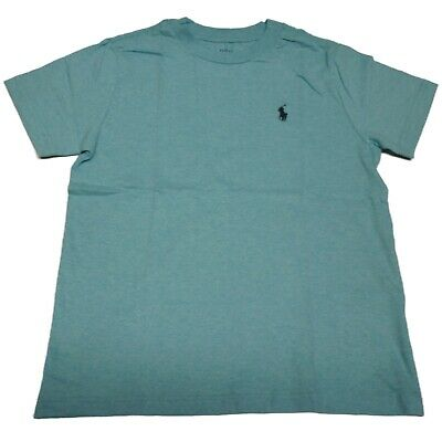 Polo Ralph Lauren Boys Cotton T Shirt Top In Turquoise Crew Neck - New • 8.95£