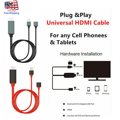 $ CDN15.22 • Buy Phone To TV 1080p Universal HDMI HDTV AV Adapter Cable For Cell Phone & Tablets