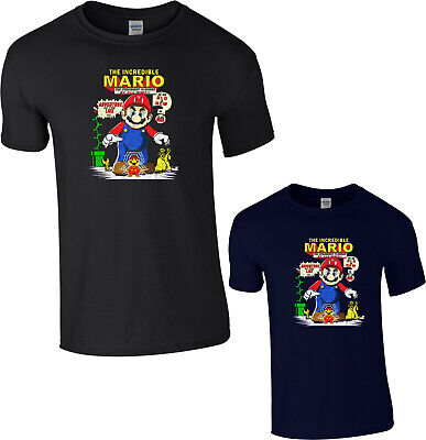 The Incredible Mario T-Shirt Adventure Video Game Luigi Funny Gift Adult Kids  • 9.99£