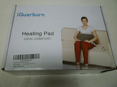 IGUERBURN Electric Heating Pad Neck Back Stomach Tummy Legs Heat Heater Wrap New • 19.95£