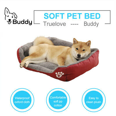 Dog Beds M - XL House Waterproof Soft Warm Bed Kennel Blanket  • 16£