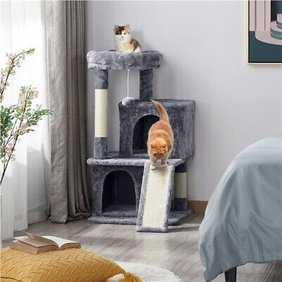 £35.99 • Buy Cat Tree Tower Cat Scratching Posts With Perch/2 Condos/Scratching Board