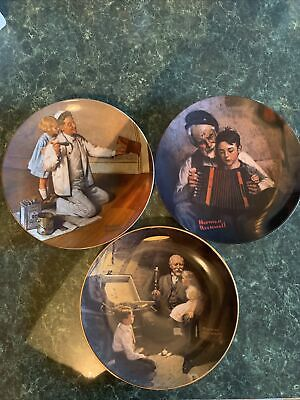 $ CDN94.93 • Buy Lot Of 3 Norman Rockwell Collector Plates