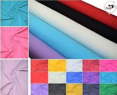 £7.49 • Buy Premium  Cotton Spandex Jersey/soft And Stretchy Fabric/ 95% Cotton & 5% Spandex