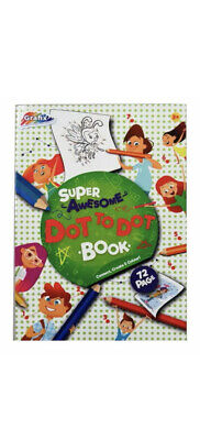 Grafix Super Awesome Dot To Dot Colouring Book. Children's Home Activity 3+year • 2.99£