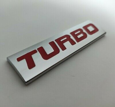 Red Silver Chrome Metal TURBO Badge Plaque Emblem For Cars SUV Gran Turismo Car • 6.50£
