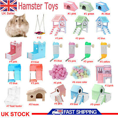 £6.89 • Buy Wooden Ferret Hamster Mouse Gerbil Playground Rat Pet Toys Hammock House Tunnel