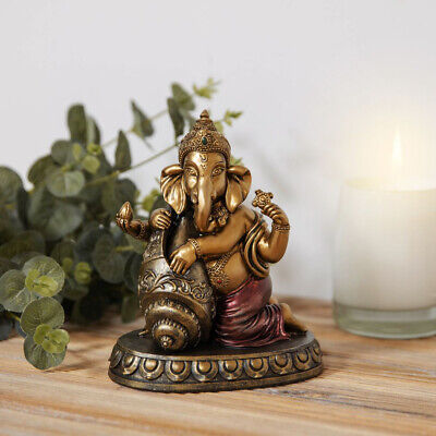 Faith & Hope Hindu Ganesh Elephant God Gift Ornament Figurine Figure 17cm Statue • 17.50£