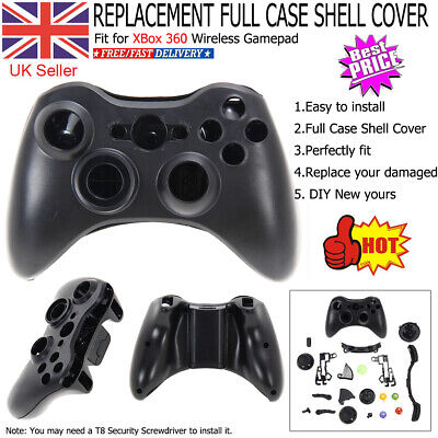 £8.29 • Buy Replacement Full Case Shell Cover + Buttons For XBox 360 Wireless Controller UK