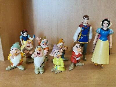 Disney Snow White And The Seven Dwarfs Figures Set Bundle Cake Toppers • 14.99£