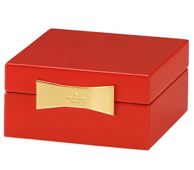 $ CDN81.94 • Buy Kate Spade Garden Drive Red Square Jewelry Box Lacquer By Lenox New In Box