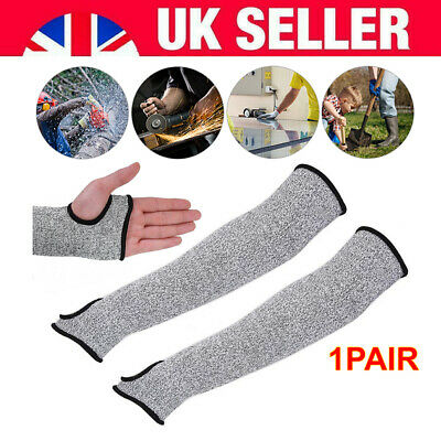 1 Pair HPPE Safety Protective Arm Sleeve Guard Cut Proof Cut-Resistant Gloves UK • 6.74£