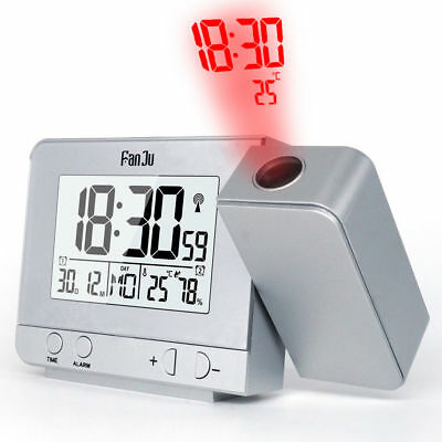 AU23.99 • Buy Digital LED Alarm Clock Time Projection Temperature Projector LCD Display