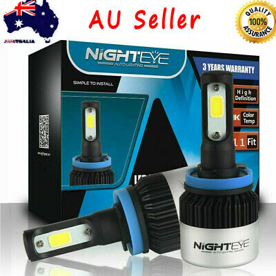 AU36.89 • Buy NIGHTEYE H11 H8 H9 72W 9000LM LED Headlight Kit Lamp Bulbs Replace Halogen Xenon