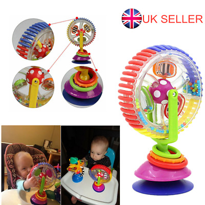 Toddler Rainbow Ferris Wheel Baby Toy Rattle Clanking Suction High Chair Toys UK • 6.29£
