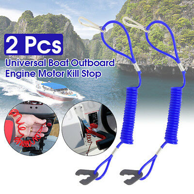 AU12.67 • Buy 2X Boat Outboard Engine Motor Lanyard Kill Stop Switch Safety Tether For Yamaha