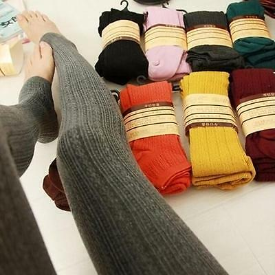 £8.39 • Buy Womens Ladies Warm Thick Chunky Cable Ribbed Knitted Leggings Skinny Wool Pants