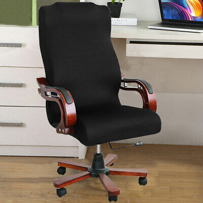 AU27.52 • Buy Office Chair Cover Elastic Stretchable Slipcovers Soft Removable Computer Seat