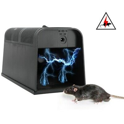 Electronic High Voltage Mouse Trap Electric Shock Rat Killer Pest Zapper Rodent • 16.99£